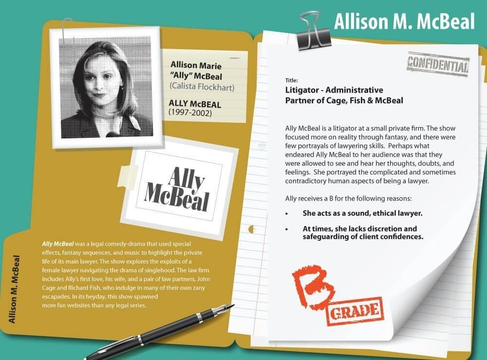 TV Lawyers Ally McBeal
